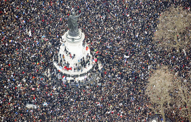 More than 1,5 million people across Paris marched for unity / Huffington Post,Paris, terrorism