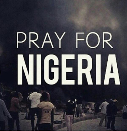 #Pray4Nigeria, one of the hashtags.