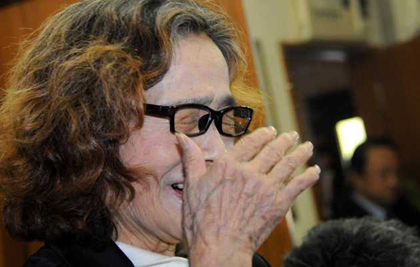 Junko Ishido, mother of Kenji Goto. / Japan Times