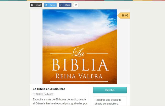 The La Bibla en Audiolibro app.  / Salem Software.,bible app, atheist, La BIblia, ateo