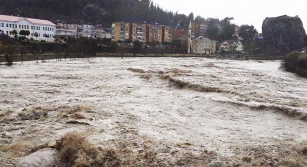 The floods in Gjirokastra. ,floods Albania