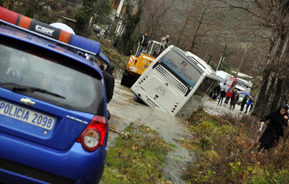 Connections flooded in Vier-Vlore, Albania.