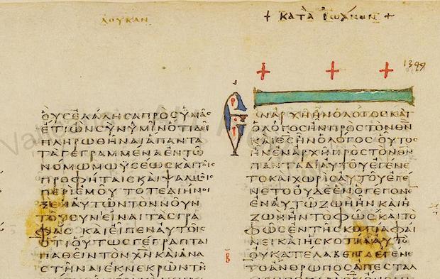 The Gospel of John from the Codex Vaticanus is now digitized.,