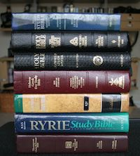 Different versions of the Bible.