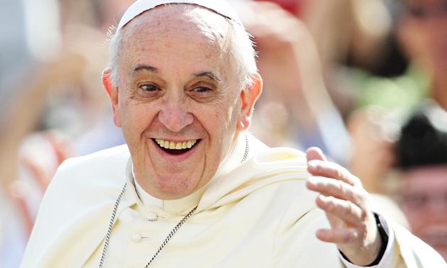 Pope Francis waving at followers. / Zuma,Francis, Vatican