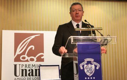 The former Spanish Interior Minister, Alberto Ruiz Gallardón, was awarded last year. / PD