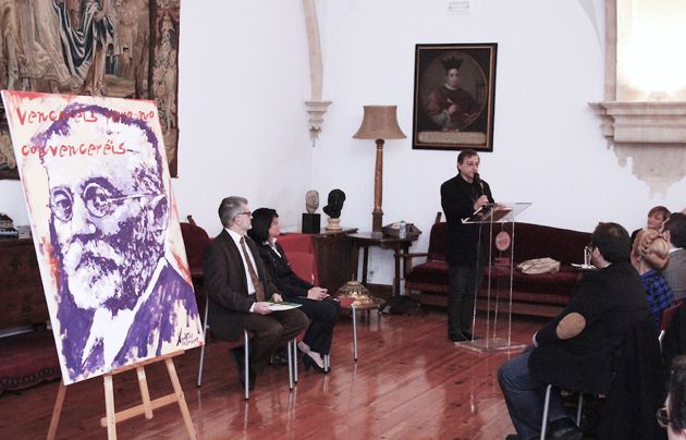 Miguel Elías during his acceptance speech. / PD,Miguel Elías