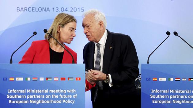 EU representative Mogherini and Spain's Foreign minister Margallo. / El País,Mogherini, Barcelona