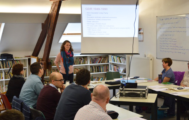 A session in last weekend's Cross-Current Politics meeting in Brussels. / IFES,cross-current