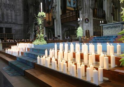 A candle for every life lost, including Lubitz's, was placed on the altar.