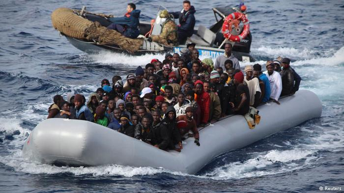 Migrants rescued in Mediterranean Sea. / Reuters,