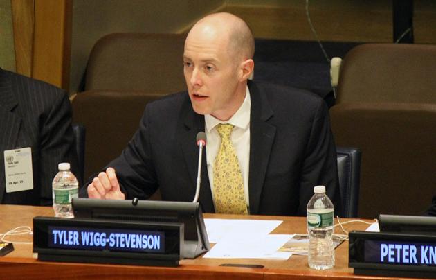 Tyler Wigg-Stevenson, Chair of WEA's Global Task Force on Nuclear Weapons. / WEA,
