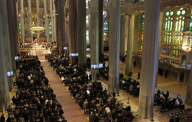 The service has been held in the Sacred Family church in Barcelona,