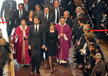 The Spanish King and Queen presided the memorial service