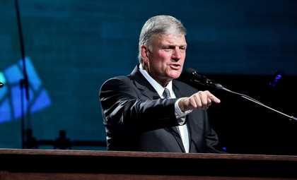 Franklin Graham preaching the gospel. / MGala