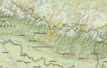 Quake's epicentre / USGS