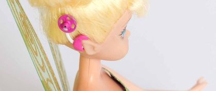 Disney's Tinker Bell with a cochlear implant
