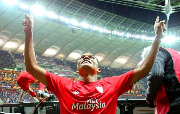 Bacca points to God after the victory. / Agencies,Bacca, God, Dios