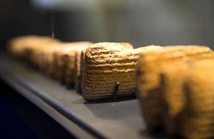 Cuneiform tablets, at the Bible Lands Museum in Jerusalem / Reuters