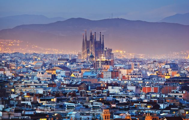 Barcelona, one of the 15 cities analysed in the the study.,barcelona, sagrada familia