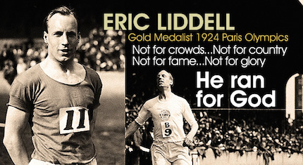 Eric Liddell, athlete and missionary.