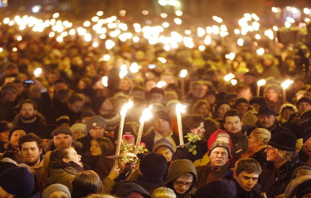 Danish people gathered after a terrorist attack last february / AP,