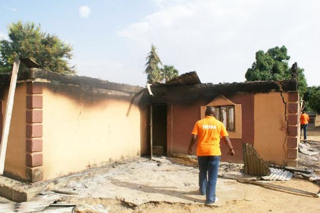 An attack last year in Aduna killed 114 people and burned down houses. / WWM,world watch monitor, Nigeria, Fulani