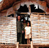 A woman and her daughter in the rural areas of Cambodia