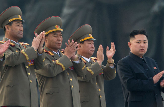 Kim Jong Un participating in a parade. / Getty,Kim Jong Un