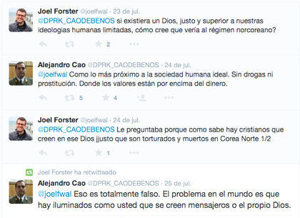 Some of the tweets in which Cao denies the persecution of Christians. / Twitter
