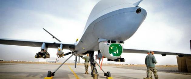 A MQ-9 Reaper drone, produced by the United Kingdom. ,drone, mq-9 reaper, UK, AI