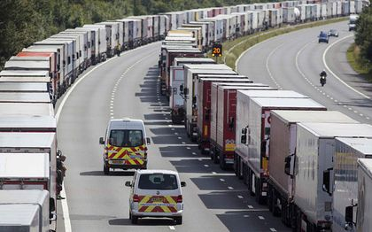 Big queues are formed everyday in Calais / Reuters