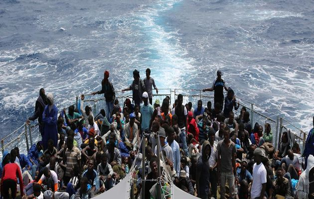 Migrants arriving in Sicily / IOM,