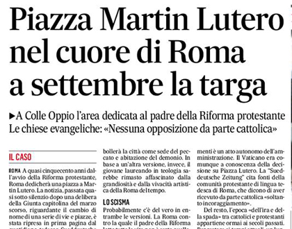 The article in 'Il Messaggero'.