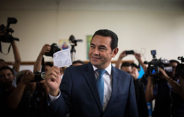 Jimmy Morales, the day of the elections. / Reuters,jimmy morales, evangelical