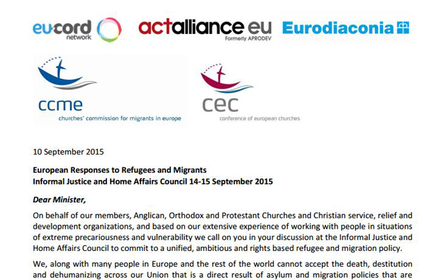 Four organisations wrote the letter last week and sent it to governments today. / Eurodiaconia,eurodiaconia, EU-Cord,