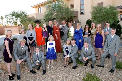 The Brown family in the reality show Sister Wives