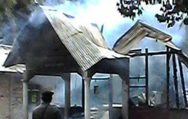 A burned indonesian church,indonesian church, indonesian christians
