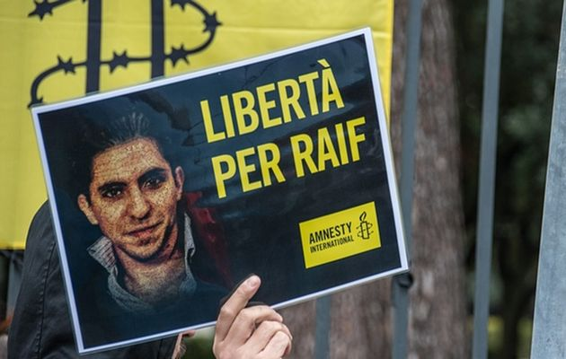 Raif Badawi was sentenced with 10 years in prison and 1,000 lashes,