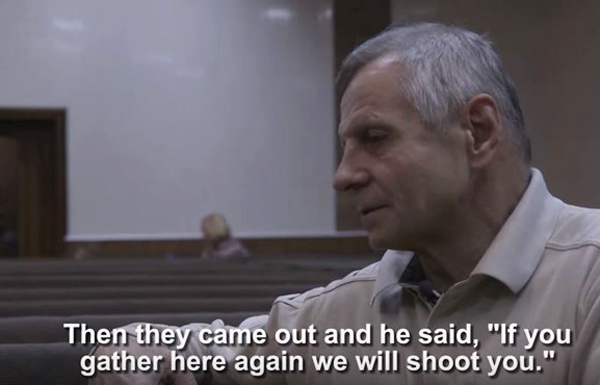 Pentecostal pastor Ivan Pryadka explains the persecution in Donetsk. / Vice News,vice news, ukraine, report, persecution, evangelicals, baptists, freedom, persecuted church