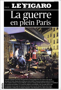Le Figaro newspaper frontpage on Saturday.