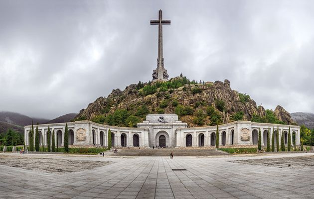 Valley of the Fallen, the grave of Franco in Madrid.,