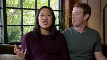 Priscilla Chan and Mark Zuckerberg explained the intiative in a video. / FB
