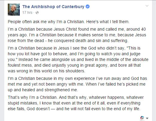 Welby's message on Facebook. ,welby, facebook, christmas
