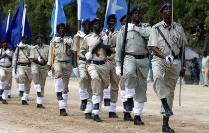 Somali soldiers in Mogadishu