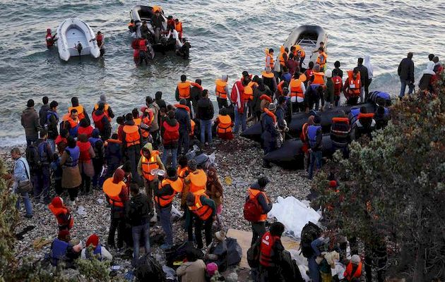 More than 80% of the people arrived in Greece,