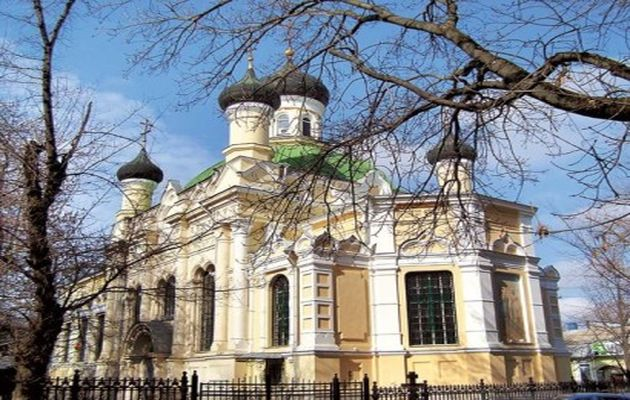 Three Saints Church in Sinferopol, capital of Crimea,