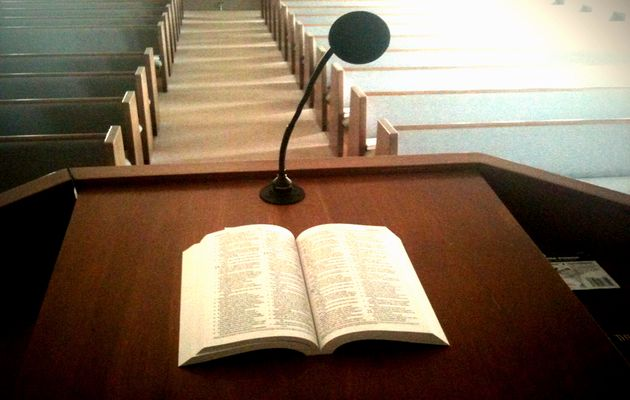 According to the survey, British people have become less religious.,pulpit, bible