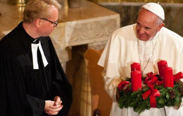 Pope Francis visited a Lutheran church in Rome last year.,pope, lutherans, protestants, reformation, 31 october, 2016, leonardo chirico