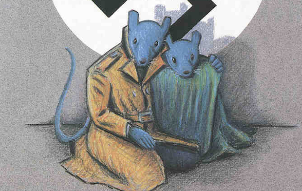 Maus, a graphic novel by Art Spiegelman.,